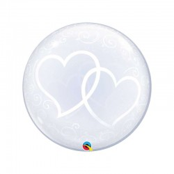 PALLONCINO 24 DECO BUBBLE ENTWINED HEARTS